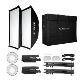 Nanlite Kit 2 Focos LED FS-150